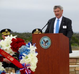 Support Foundation President and CEO Dennis A. Schoville asked the audience to remember that some interred at Miramar National Cemetery had given their lives for their families, and the security of the nation.