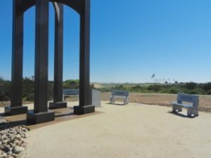 Granite Benches Installed at Cemetery's Veterans Tribute Tower & Carillon Site