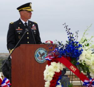 Memorial Service Speaker: Bear in Mind the Sacrifices of Military Families